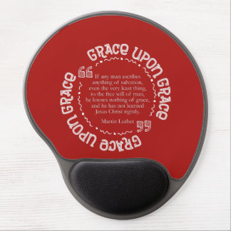 Gel Mousepad w/Luther Quote (Cranberry)