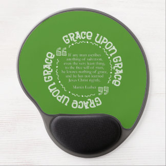 Gel Mousepad w/Luther Quote (Kelly Green)