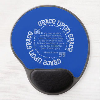 Gel Mousepad w/Luther Quote (Royal Blue)
