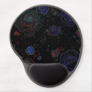 Gel negro del cojín de ratón de los rosas del alfombrilla gel