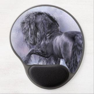 Gel negro Mousepad de la perla Alfombrillas De Ratón Con Gel