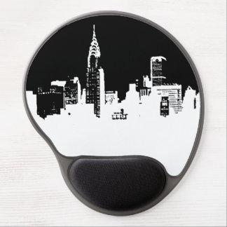 Gel negro y blanco Mousepad de New York City del Alfombrilla Gel