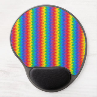 Gel ondulado Mousepad del arco iris Alfombrillas Con Gel