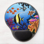 Gel pacífico Mousepad de los pescados del arrecife Alfombrillas De Raton Con Gel