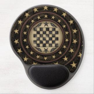 Gel primitivo Mousepad del tablero de damas del cu Alfombrilla Con Gel
