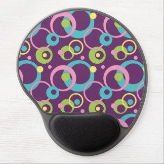 Gel púrpura enrrollado Mousepad de los círculos Alfombrilla De Ratón Con Gel