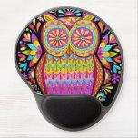 ¡Gel retro maravilloso Mousepad - búho colorido Alfombrillas De Ratón Con Gel