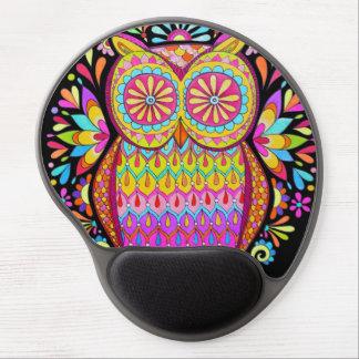 ¡Gel retro maravilloso Mousepad - búho colorido li Alfombrillas De Ratón Con Gel