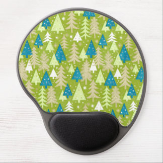 Gel retro Mousepad de los árboles de navidad el | Alfombrillas Con Gel