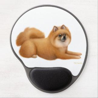 Gel rojo amistoso Mousepad del perro de Pomeranian Alfombrillas De Raton Con Gel