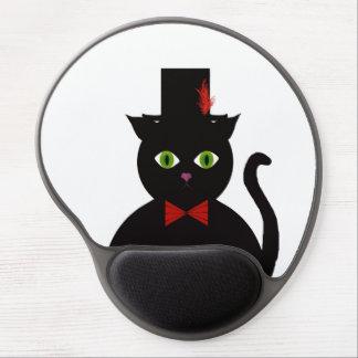 Gel rojo Mousepad del arco del sombrero de copa Alfombrilla De Ratón Con Gel