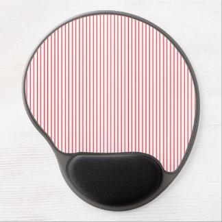 Gel rojo y blanco Mousepad de la tela a rayas Alfombrilla Con Gel