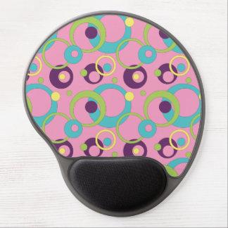 Gel rosado enrrollado Mousepad de los círculos Alfombrilla De Ratón Con Gel