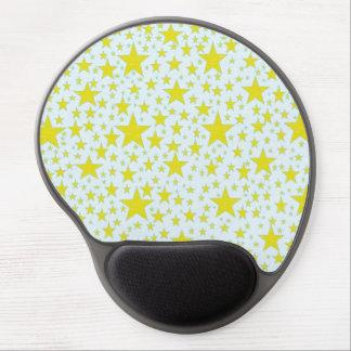 Gel tachonado estrella Mousepad del oro Alfombrilla De Ratón Con Gel