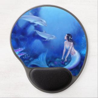 Gel ultramarino Mousepad del arte de la sirena y d Alfombrillas De Raton Con Gel