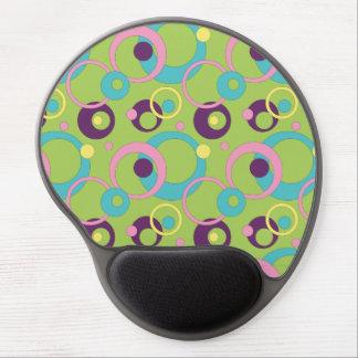 Gel verde enrrollado Mousepad de los círculos Alfombrillas Con Gel