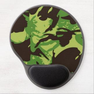 Gel verde Mousemat del modelo del combate Alfombrillas Con Gel