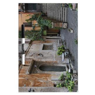 Gelateria romano pizarra blanca
