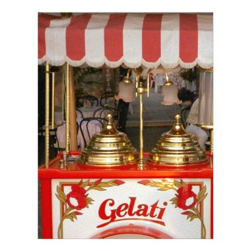 Gelati, helado italiano membrete a diseño