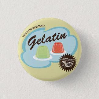 Gelatin (in Green & Red Flavors) Retro Flair Button