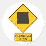 Gelatinous Cube XING Classic Round Sticker