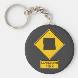 Gelatinous Cube XING Keychain