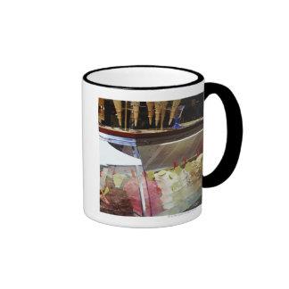Gelato italiano en vitrina taza