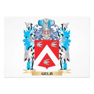 Gelb Coat of Arms - Family Crest Personalized Announcement
