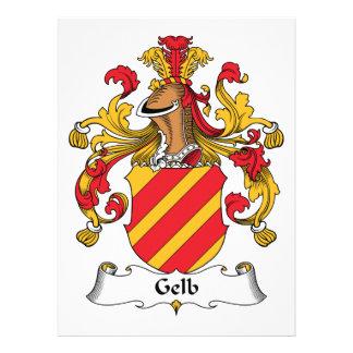 Gelb Family Crest Custom Invite