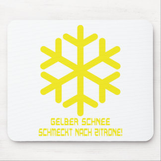 gelber schnee icon mouse pad