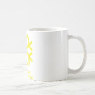 gelber schnee icon mugs