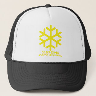 gelber schnee icon trucker hat