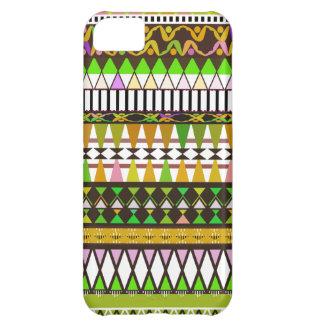 Gelber Stammes- Muster iPhone 5 Case-Mate-Kaste