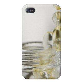 Gelcaps que se derrama fuera de la botella de cris iPhone 4/4S funda