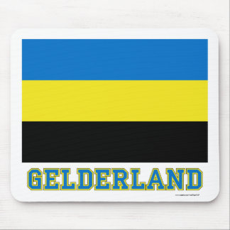 Gelderland Flag with name Mouse Pad
