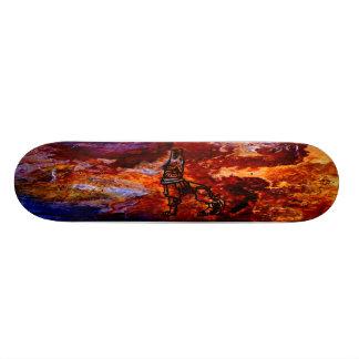 Gelezenis Vilkas Iron Wolf Fire Slate Boards Skate Deck