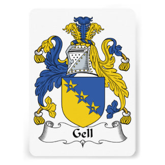 Gell Family Crest Personalized Invitation