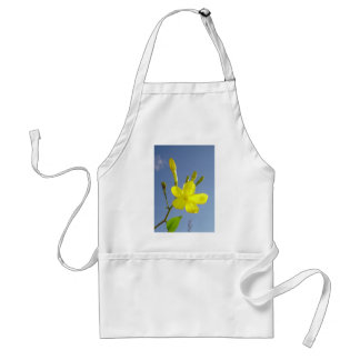 Gelsemium Sempervirens Isolated on Blue Sky Adult Apron