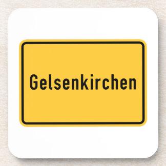 Gelsenkirchen, Germany Road Sign Beverage Coaster