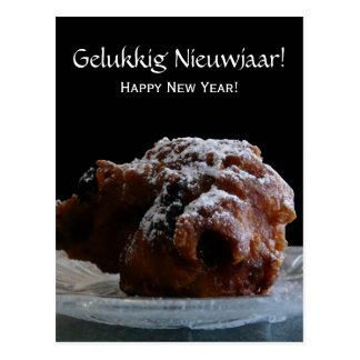 ¡Gelukkig Nieuwjaar Ollie Bollen del Año Nuevo Tarjeta Postal