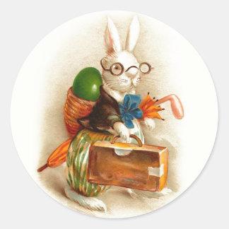 Gelukkig Paaschfeest Dutch Vintage Easter Classic Round Sticker