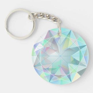 [GEM-001] Shiny blue diamond Keychain