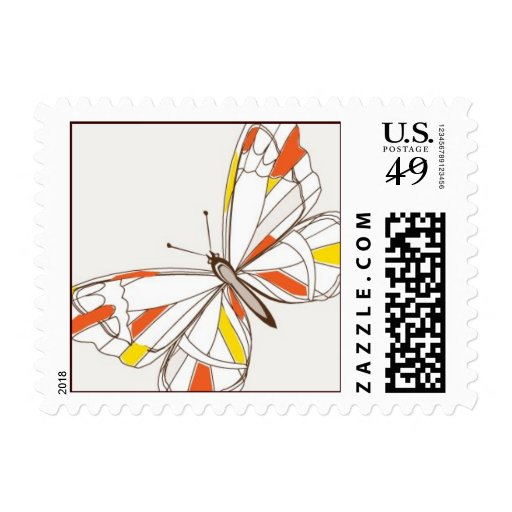 Gem Butterfly Postage Stamps