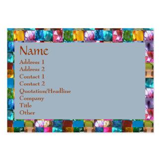 GEM Crystals Pearls BORDER FRAME Business Card Template