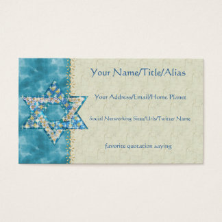 Gem decorated Star of David Business Card