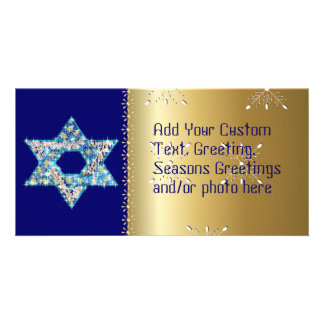 Gem decorated Star of David Card