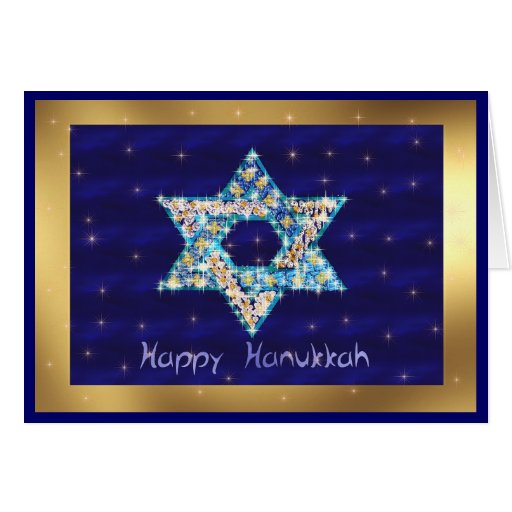 Gem decorated Star of David Cards