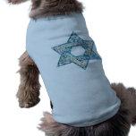 Gem decorated Star of David Dog Tshirt