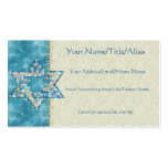 Gem decorated Star of David Double-Sided Standard Business Cards (Pack Of 100)