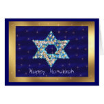 Gem decorated Star of David Greeting Cards